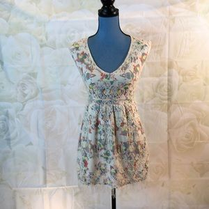 Petticoat Alley geo print lined lace dress